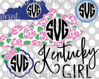 Kentucky SVG, Kentucky, kentucky monogram svg, monogram frame svg, kentucky dxf, monogram svg, Kentucky vector, Digital Download, printable