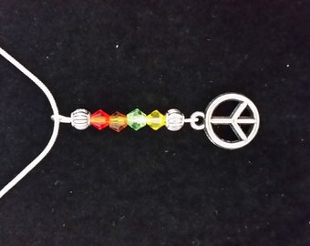 16in Peace Pendent Necklace