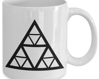 Sierpinski triangle - math themed gifts - coffee or tea cup