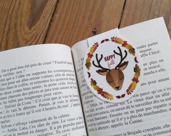 Deer, Fox and squirrel / / 1 bookmark