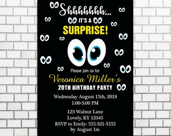 Surprise Party, Adult Birthday Party, Emoticon Birthday Party
