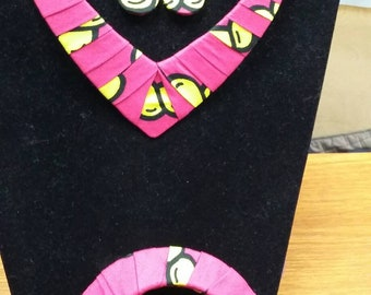 African print jewellery set