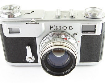 KIEV 2 Russian 35mm Film Contax Copy Rangefinder RF Camera Jupiter-8 Lens EXCELLENT 1954