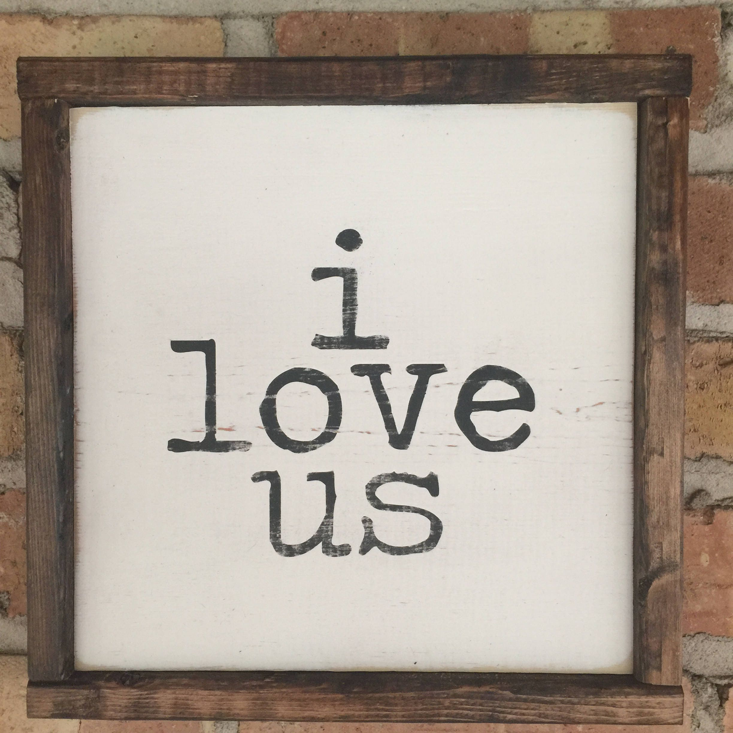 Love Decor Signs: I Love Us Sign Rustic Wood Sign Farmhouse Decor