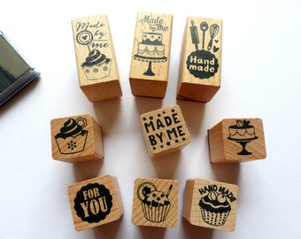 Stamp set stamps made by me baking cupcakes