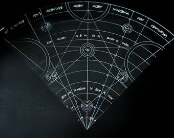 Engraved Spell Cone Template Design#1