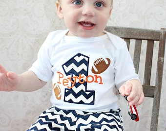 first birthday outfit boy Personalized Baby Boys First Birthday Outfit Cake Smash Football Baby Boys 1st Birthday Outfit Birthday Boy Outfit