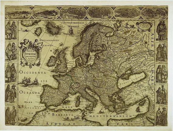 Map of europe antique world maps ancient maps world map 19 gumiabroncs Gallery