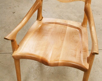 Sculpted Low Back Chair