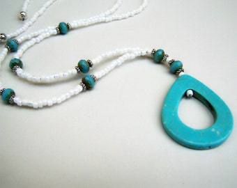 Turquoise Color, Lanyard for Glasses, One Of A Kind, Eyeglasses Holder Necklace, by Eyewearglamour