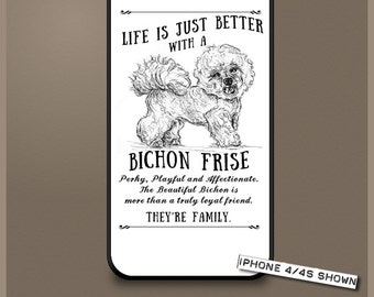 Bichon Frise dog phone case cover iPhone Samsung ~ Can be Personalised