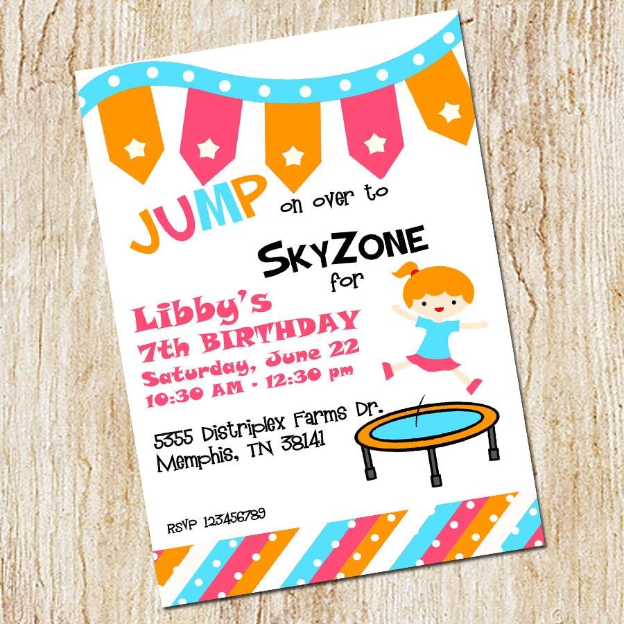 trampoline f u00eate invitation ciel anniversaire invitation