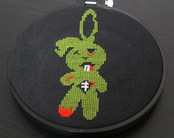 Zombie Bunny Rabbit Horror Cross Stitch Pattern Download Intermediate