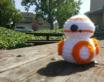 Star Wars Force Awakens BB-8 crochet plushie