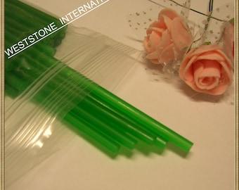"50pcs 6"" x 5/32"" Plastic  Lollipop Sticks for Cake Pops - Green"