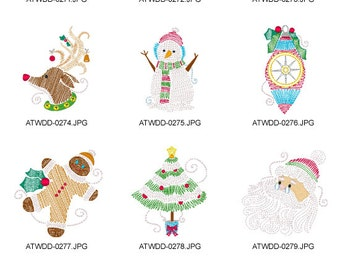 Christmas-Designs ( 10 Machine Embroidery Designs from ATW )