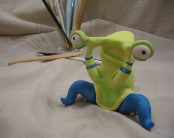 Polymer Clay Creature 'Boxing Slug' by LesserBeings