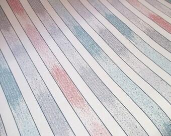 Vintage Wallpaper Pastel Stripes Unopened Rolls 1990s Choice Qty 1-6 / NOS Deadstock Sunworthy