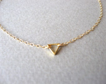 Gold Anklet Gold Ankle Bracelet Triangle Anklet Minimalist Gold Jewelry Delicate Anklet Dainty Gold Anklet Gift For Her Delicate Gold Anklet