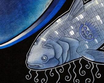 Original Primordial Coelacanth Totem