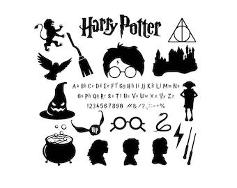 Harry Potter svg files Harry Potter alphabet Harry Potter Pack for Silhouette Circut Harry Potter Svg dxf studio Harry Potter commercial use
