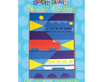 Night Trains child's quilt sewing pattern