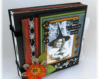 Halloween Mini Scrapbook, Little Witch Smash Book, Halloween Instagram, Photo Album