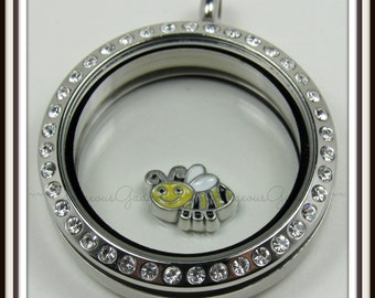 Bumble Bee Floating Charm for Glass Locket / Floating Locket / Memory Locket