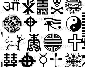 ceramic decals, sepia, fusible transfers, eye of Horus, skull, symbols, cross, decals faith, image transfer, ceramic decals glass pendants