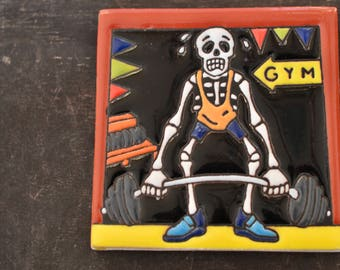 Talavera Mexican Tile- Day of the Dead / Catrín at the  GMY