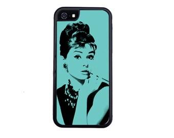Audrey Hepburn Inspired Case Design For iPhone 5/5s, 5c, 6/6s, 6/6s Plus, 7, 7 Plus, 8 or 8 Plus.