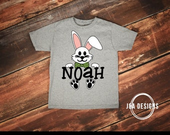 Boy Easter Bunny Bow Tie PNG- Bunny Shirt- Easter