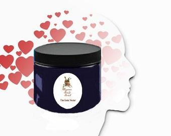 6 oz Organic Scalp Scrub for Flaky~ Dry~ Itchy~ Lush OIL Exfoliator! Dead Sea Salts, Herbs and Essential Oils!