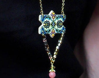 Persian Tile Necklace
