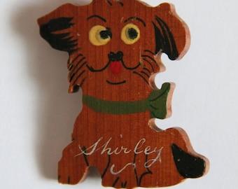 1940s Novelty Dog Brooch