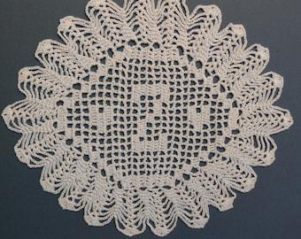 Personnalisé au crochet napperon initiale « Z »
