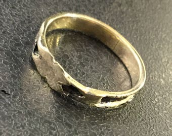 9ct gold mourning ring