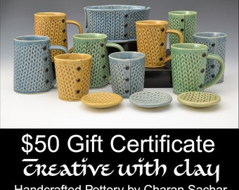 50 Dollar Gift Certificate Creative with Clay