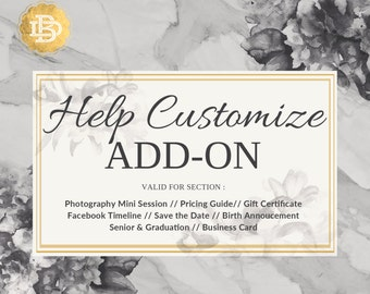 Template Help Customize Add-On, Photoshop Template Customize for Photographer, Image Placement and Text Added
