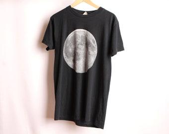 noir délavé vintage pleine lune des années 90 t-shirt