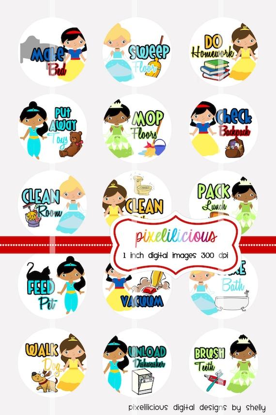 instant download chore chart digital bottle cap images rh etsy com chore chart clipart free Household Chores Clip Art