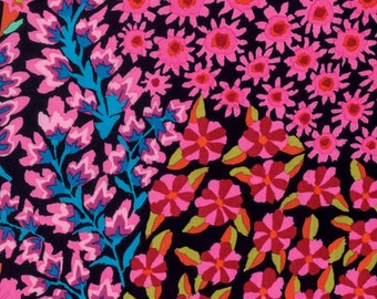 Kaffe Fassett for Rowan Westminster Fibers - Persian Graden - Black - 1/2 Yard Cotton Quilt Fabric 1016
