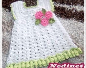 Crochet Pattern, Crochet Dress Pattern, Crochet Dress, Baby Dress, Girls Dress, Toddler Dress Pattern, Dress, Crochet, PDF Pattern, 0-4 year