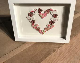 Unique Button Art Heart .... Shabby Chic