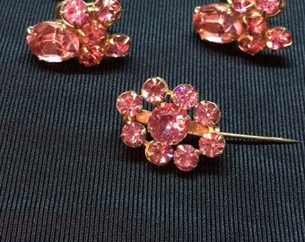 Signed Coro pin and earring set