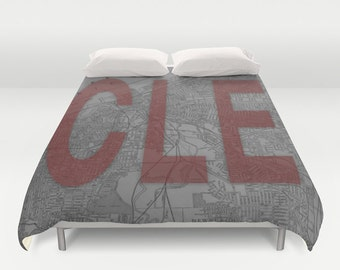 HOME is CLE Duvet Cover - Cleveland