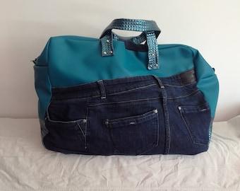 turquoise weekend bag