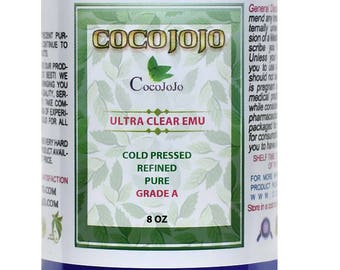 Pure Ultra Clear Emu Oil 100% All Natural , Refined, Cold Pressed