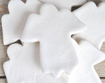 Large Angel DIY Salt Dough Supplies Ornaments Set of 10