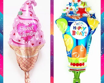 Icecream Cone Balloon perfect for Birthday party, Valentines Party